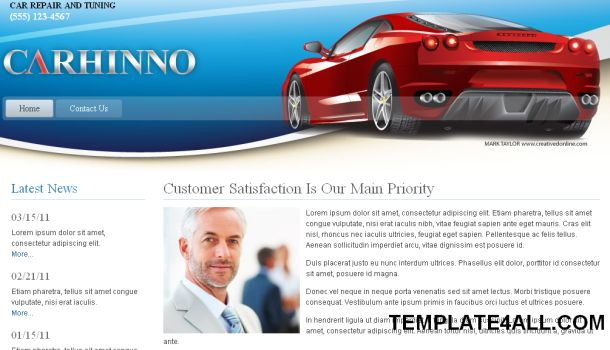 Cars Dealers Tuning Joomla Template