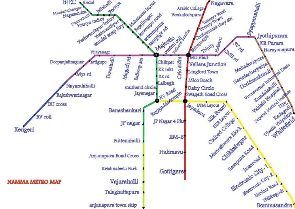 bangalore metro High-resolution map of bangalore subway for free download and print travel guide to all touristic sites, museums and architecture of bangalore.