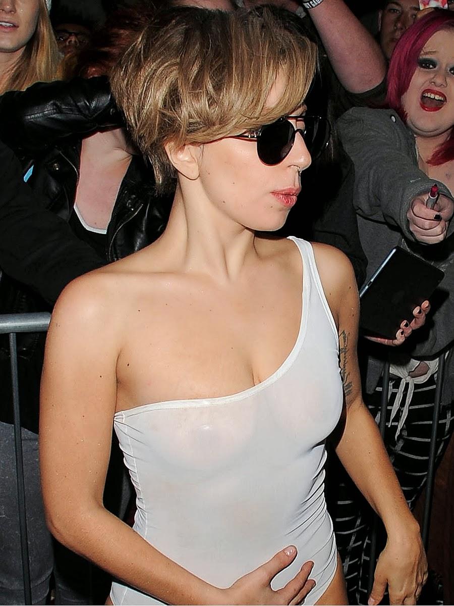 Lady Gaga one more see-through