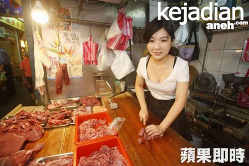 Si Cantik Penjual Daging Babi