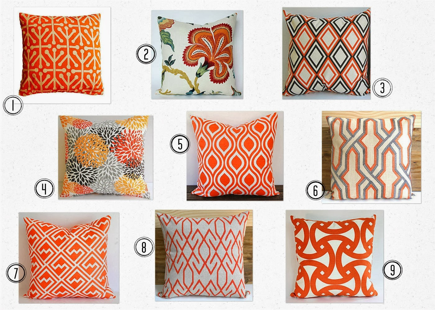 Home with Baxter: Orange Overload - Throw Pillows