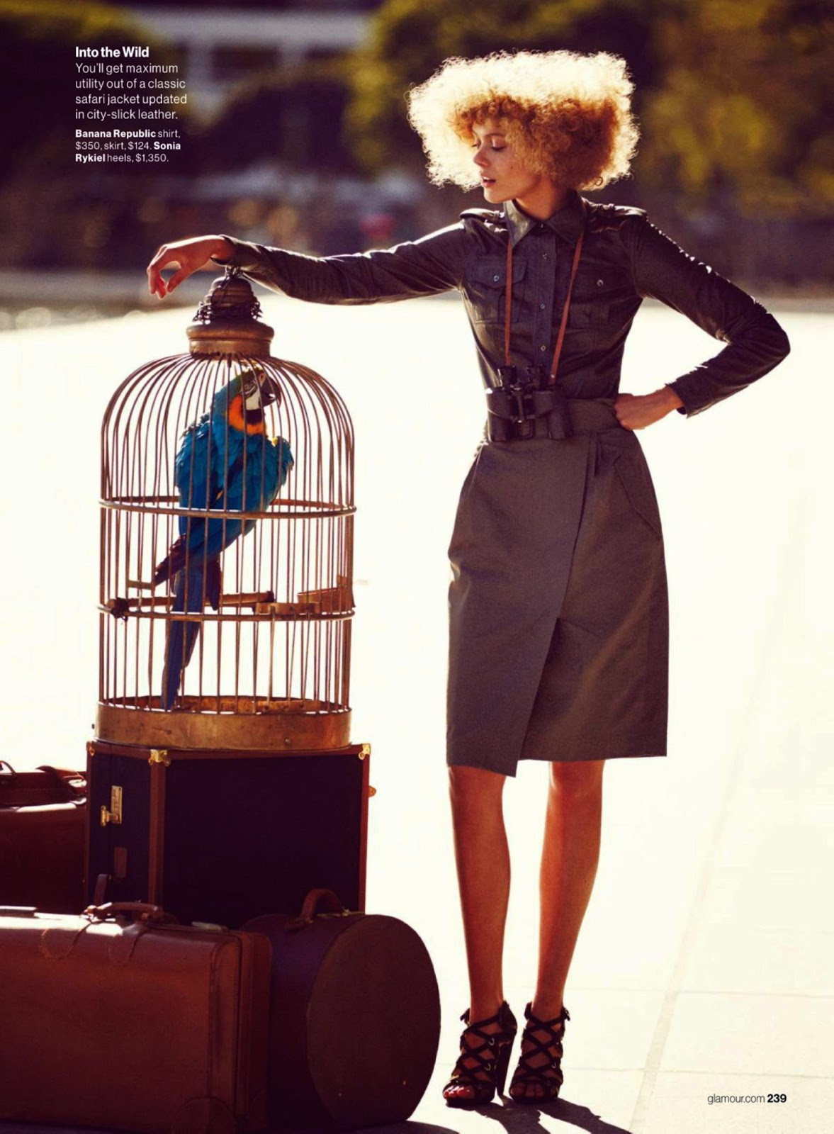 Fashion Model: Frida Gustavsson for Glamour USA
