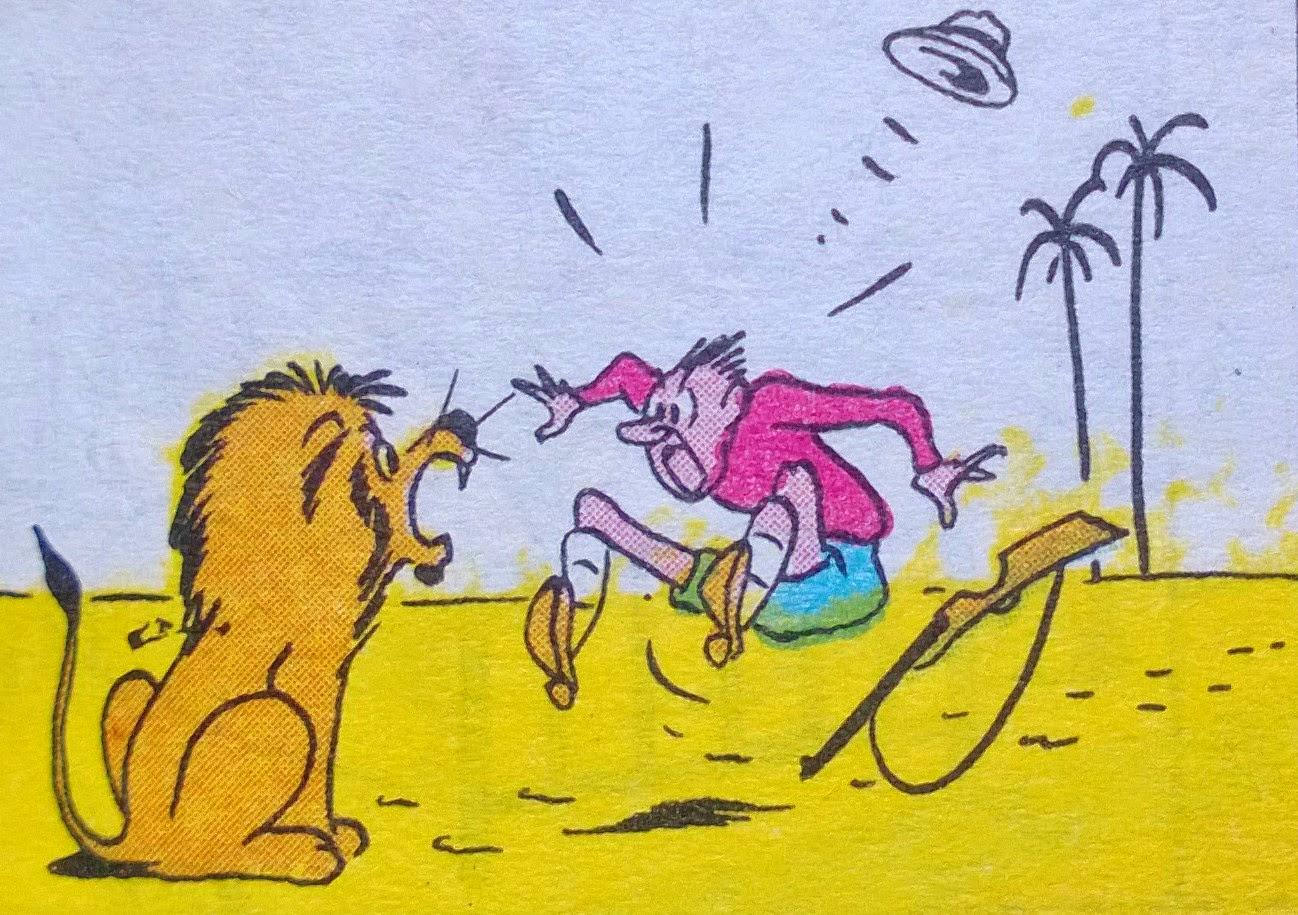 cazando leones