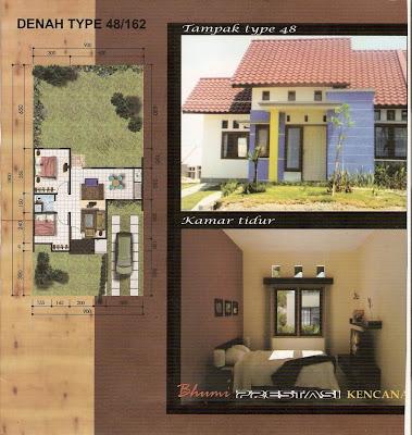 contoh rumah minimalis type 48