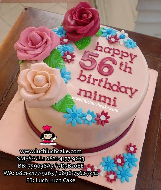 Kue Tart Bunga Untuk Ibu Daerah Surabaya - Sidoarjo