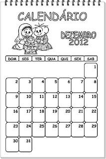 calendário turma da monica med de dezembro