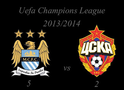 Manchester City vs CSKA Moskva Result November 2013