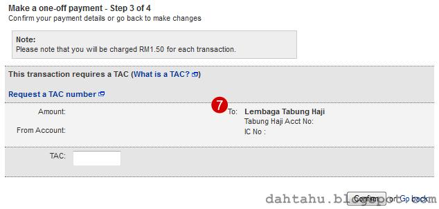 Maybank2u Maybank Transfer ke Tabung Haji 1-7