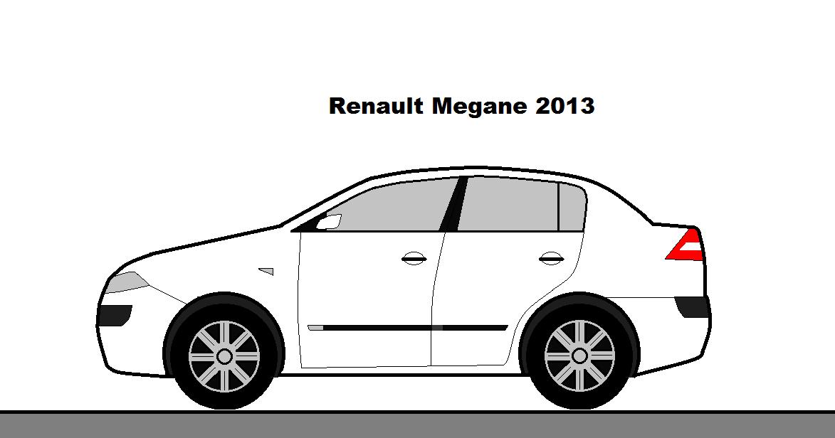 desenhos de carros no paint  renault megane 2013