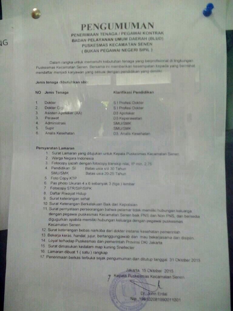 lowongan kerja indonesia, lowongan kerja medis terbaru, lowongan kerja terbaru, lowongan kerja puskesmas,