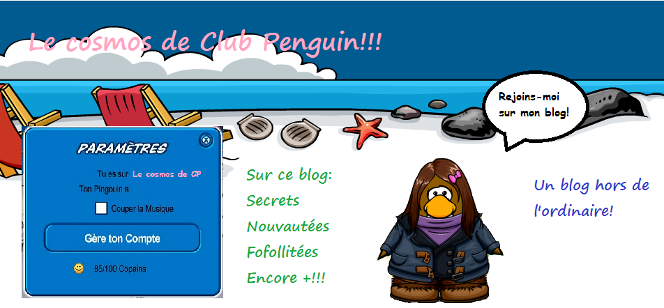 Le cosmos de Club Penguin