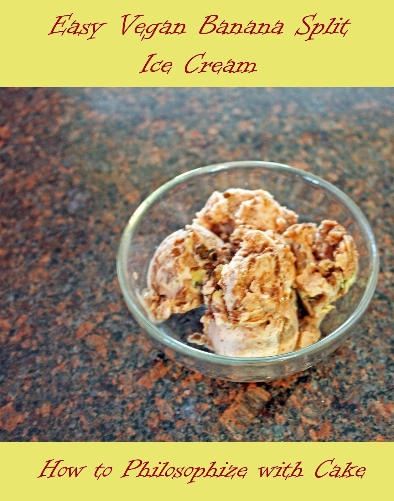 easy vegan banana split ice cream