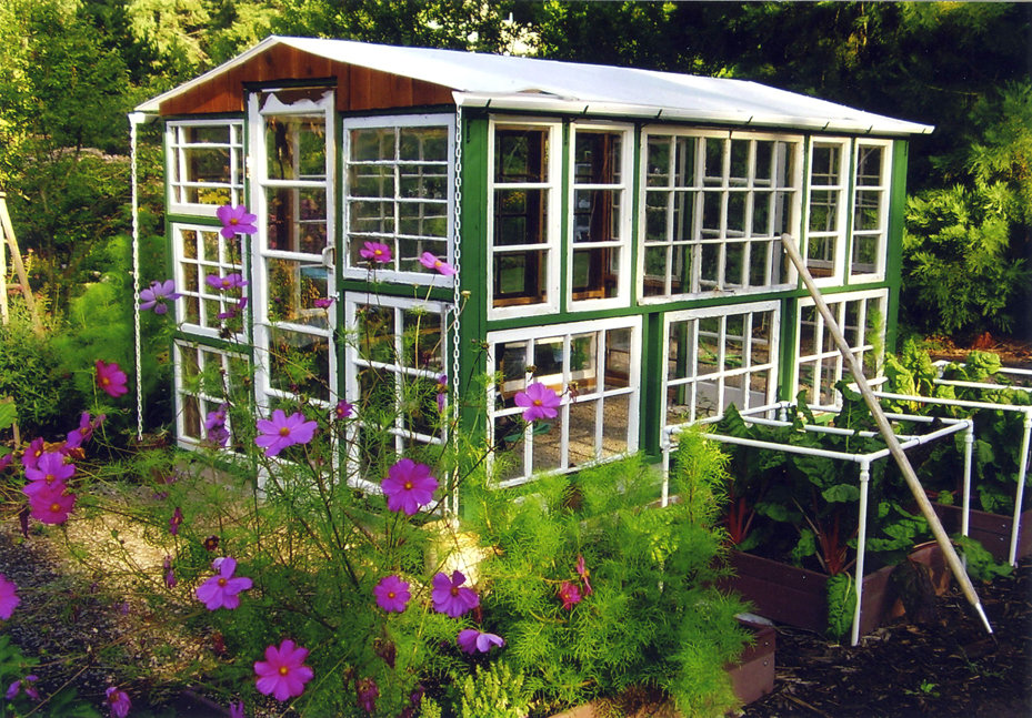 The Art Of Up Cycling Garden House Made With Old Doors