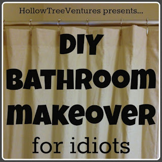DIY bathroom makeover for idiots by Robyn Welling @RobynHTV