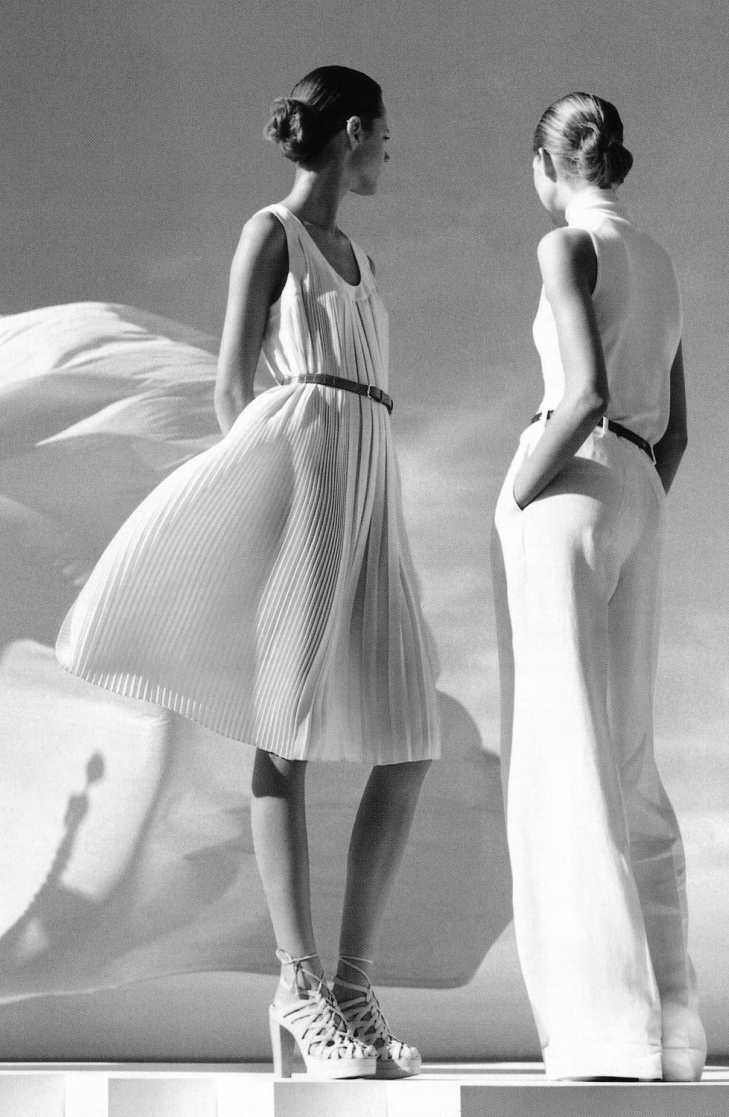 via fashioned by love | Freja Beha & Iselin Steiro photographed by Nathaniel Goldberg for Hermes Spring/Summer 2006 catalogue/campaign