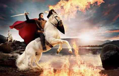 prince charming in white horse