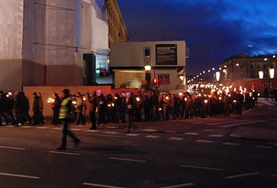Фашистская демонстрация в Стокгольме
