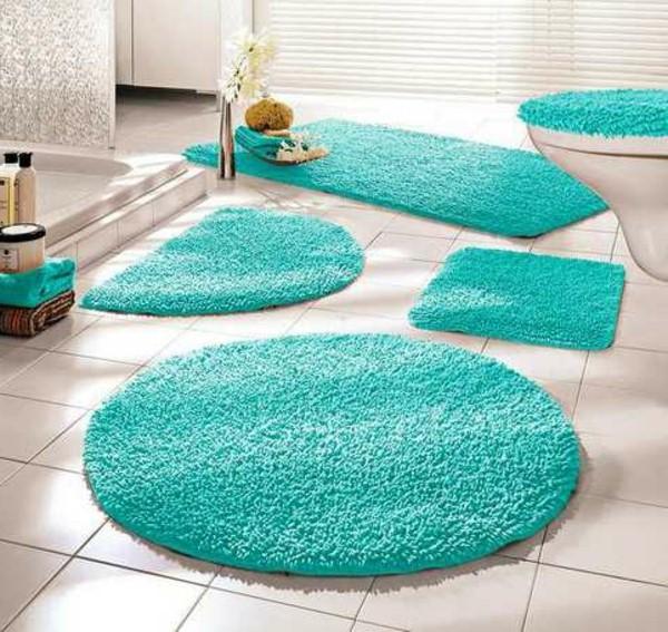 beaux modèles de tapis de salle de bain bleus - Tapis Salle De Bain Bleu