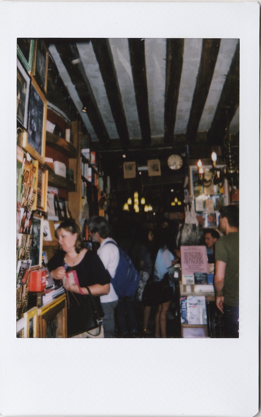shakespeare and company polaroid