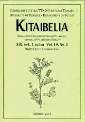 KITAIBELIA folyóirat