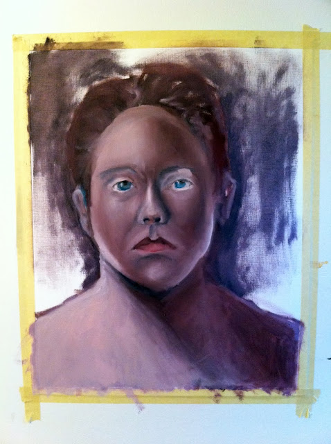 self portrait, oil painting, painting, portrait