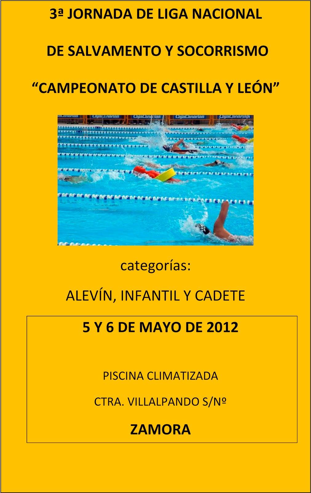 Cluboca sos campeonato castilla y leon zamora 5 y 6 de mayo for Piscina climatizada de zamora