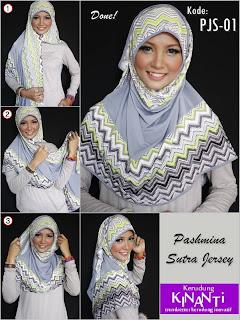 Tutorial Hijab Pashmina Sutra Jersey