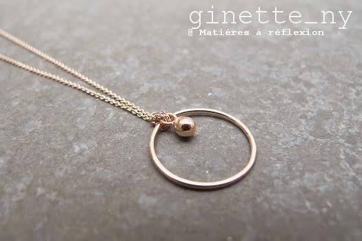 collier circle ginette ny avec sa petite perle mati res. Black Bedroom Furniture Sets. Home Design Ideas