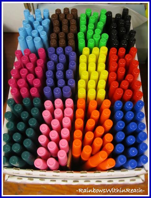 photo of: Markers Organized (Organizational RoundUP via RainbowsWIthinReach)