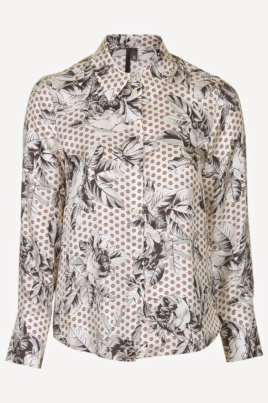 silk spotty blouse topshop
