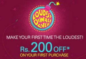 Flat Rs.200 OFF on Shopping of Rs.400 or More (New Users, 50% Discount)