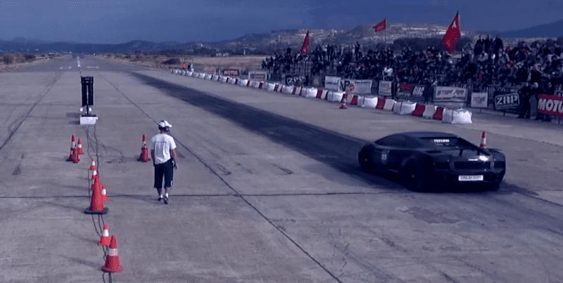 2000馬力のランボルギーニガヤルドが時速398kmを記録した後に発火!?