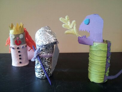 kids' crafts, toilet roll crafts, knight craft, princess craft, dragon craft