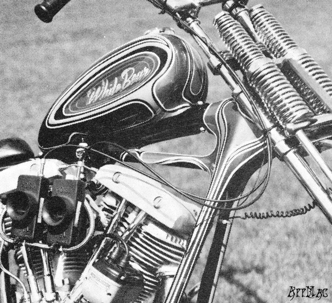Then I looked at the photo of Mouse's Dick Allen springer on his bike  again.......do you notice what I did? Look at the distance separating the  top ...