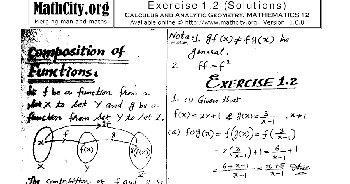 pir-e-khurasan: MATHEMATICS 2nd YEAR CHAPTER#01 Exercise#1.2