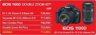 EOS 1100D Double Zoom Kit