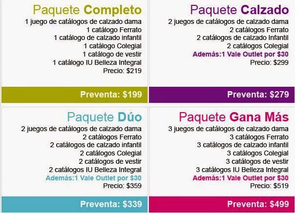 Paquetes Catálogos Verano 2015
