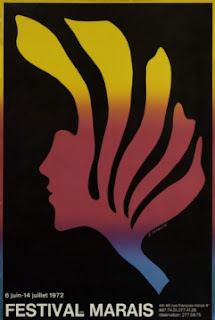 Affiche du festival de théâtre du Marais créé par Michel Raude