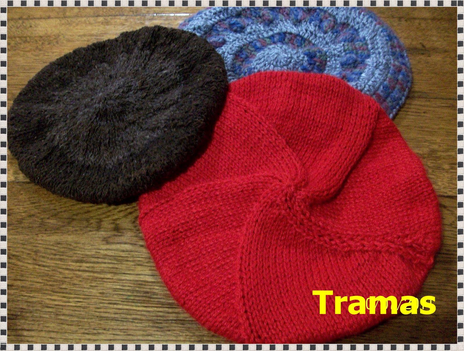 Boina Tejidas Al Crochet Y Dos Agujas  Con Lanas Industriales Y Cruda