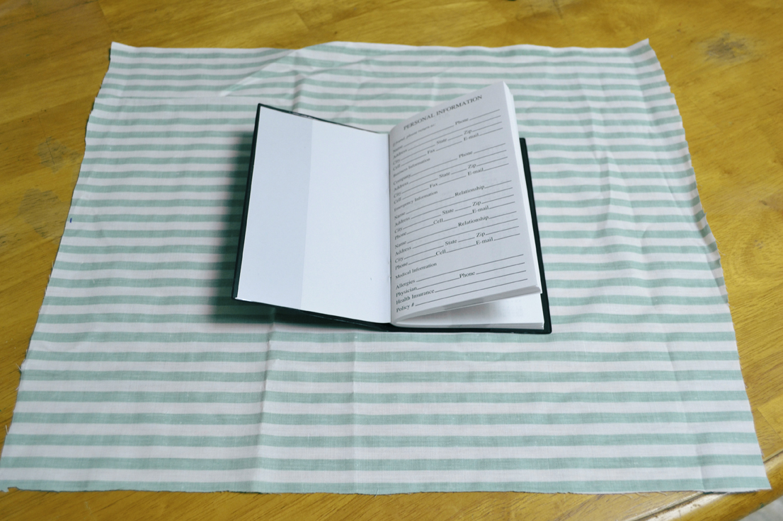 Large Cloth Book Covers : While i sip my tea fabric book cover