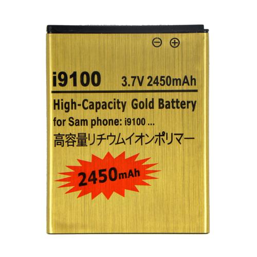 New Gold High-Capacity Li-ion Battery 2450mAh For Samsung Galaxy SII i9100