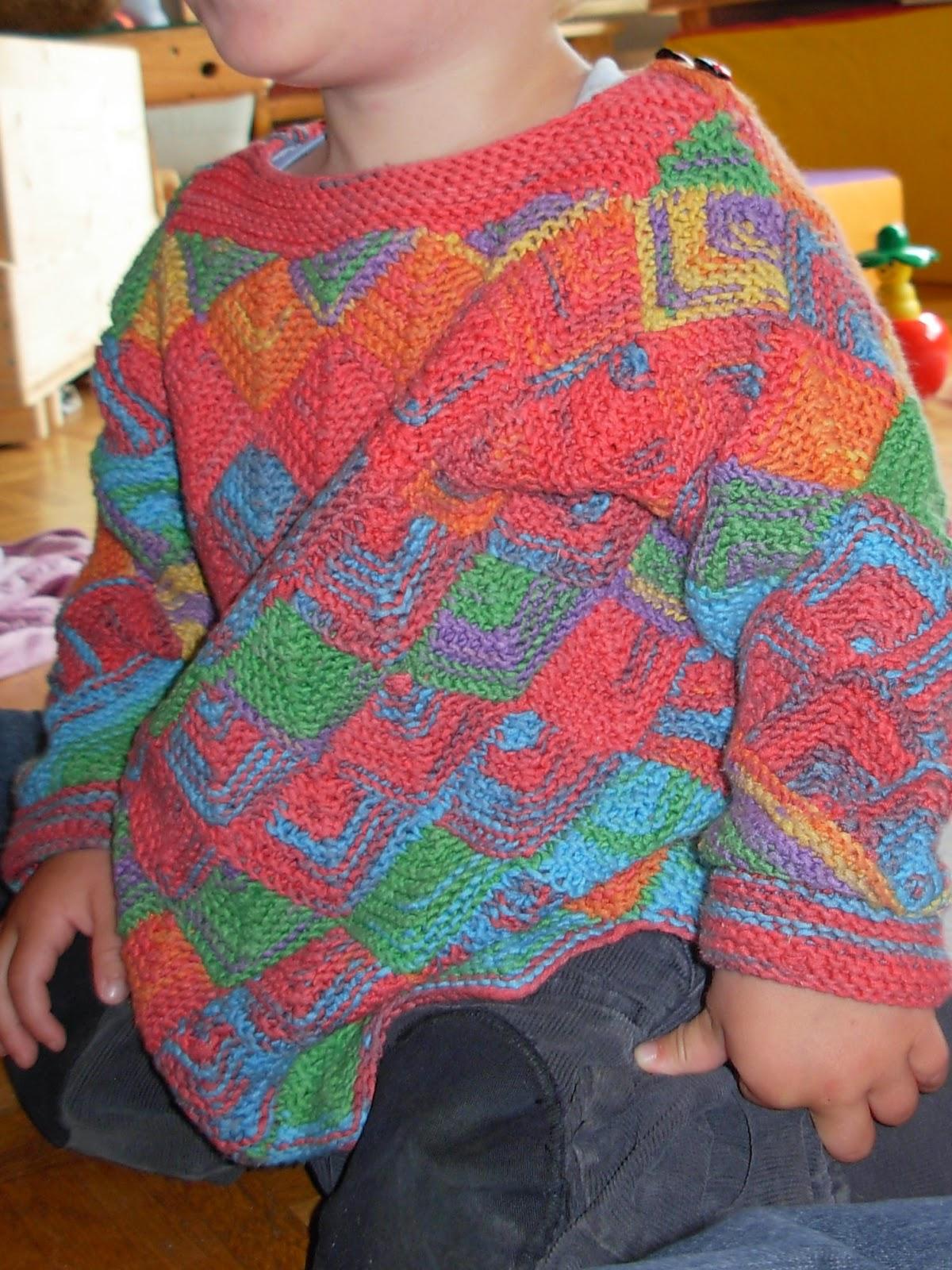 Kinderpullover selbst gestrickt
