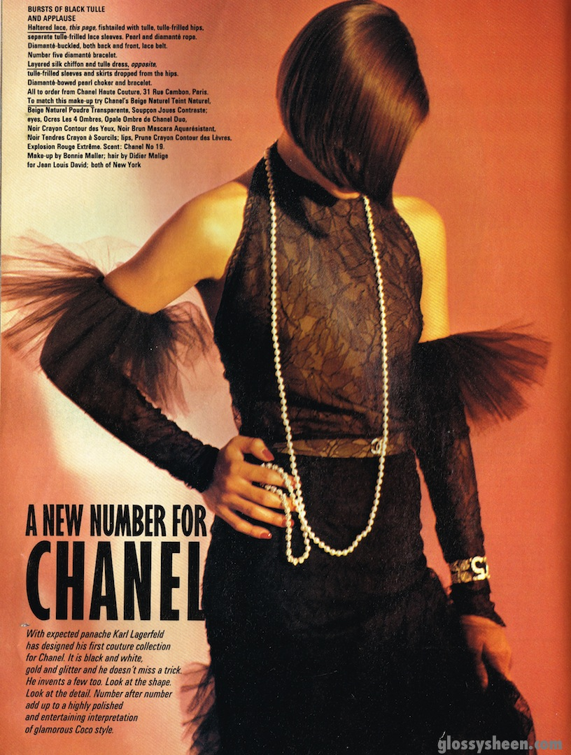 36786d2c0360 Glossy Sheen  A New Number For Chanel - British Vogue June 1983
