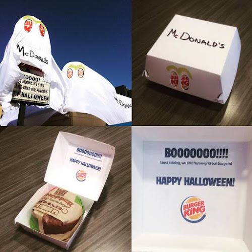 Burger king decide trolar o mc donald nesse halloween