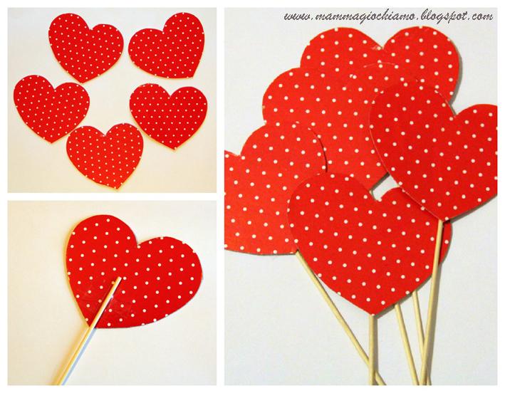 Mamma giochiamo addobbi per san valentino il - Decorazioni san valentino fai da te ...