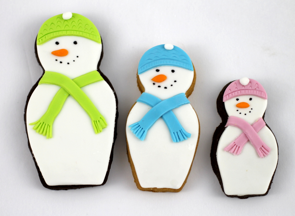 bubble and sweet snowman nesting doll christmas cookies