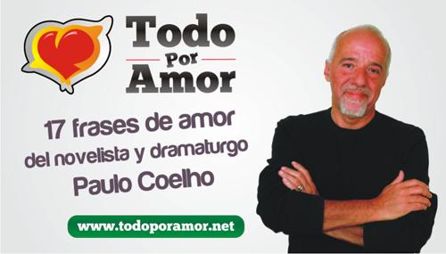 17 frases de amor del novelista y dramaturgo Paulo Coelho