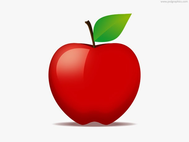 Red Apple Fruit Icon PSD