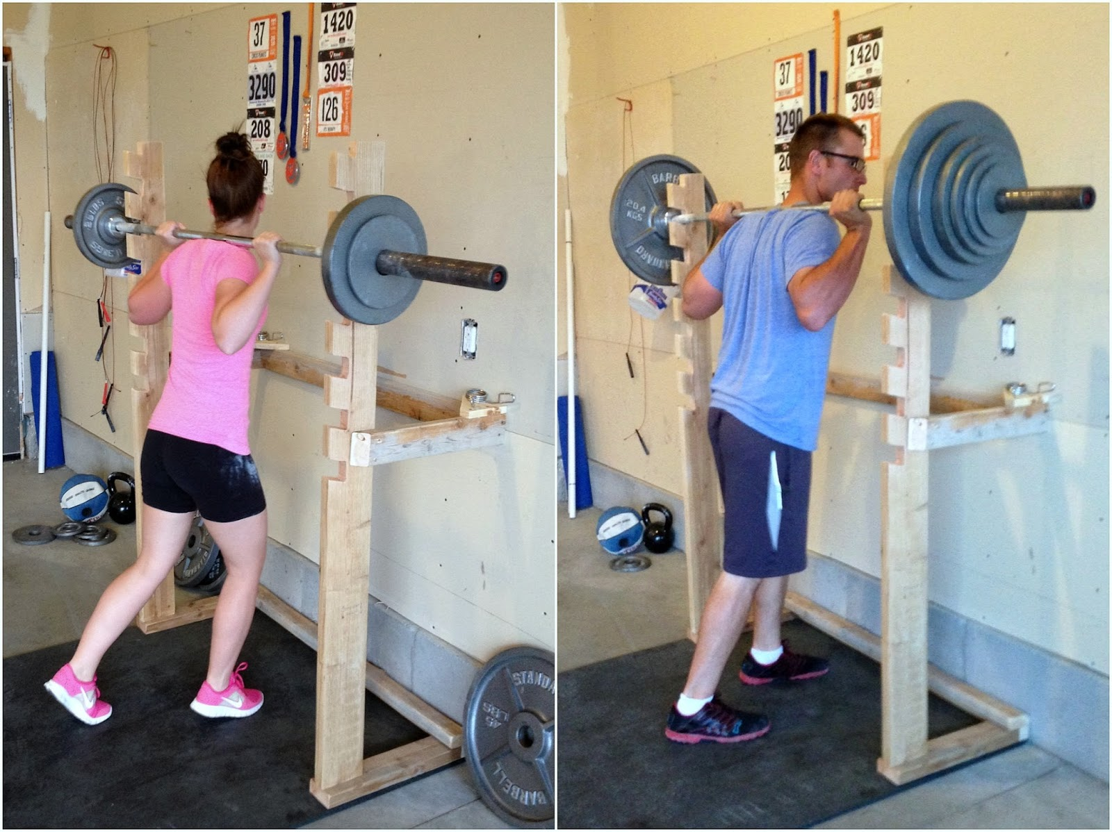 Diy crossfit garage gym part 2 fitness for A squat rack