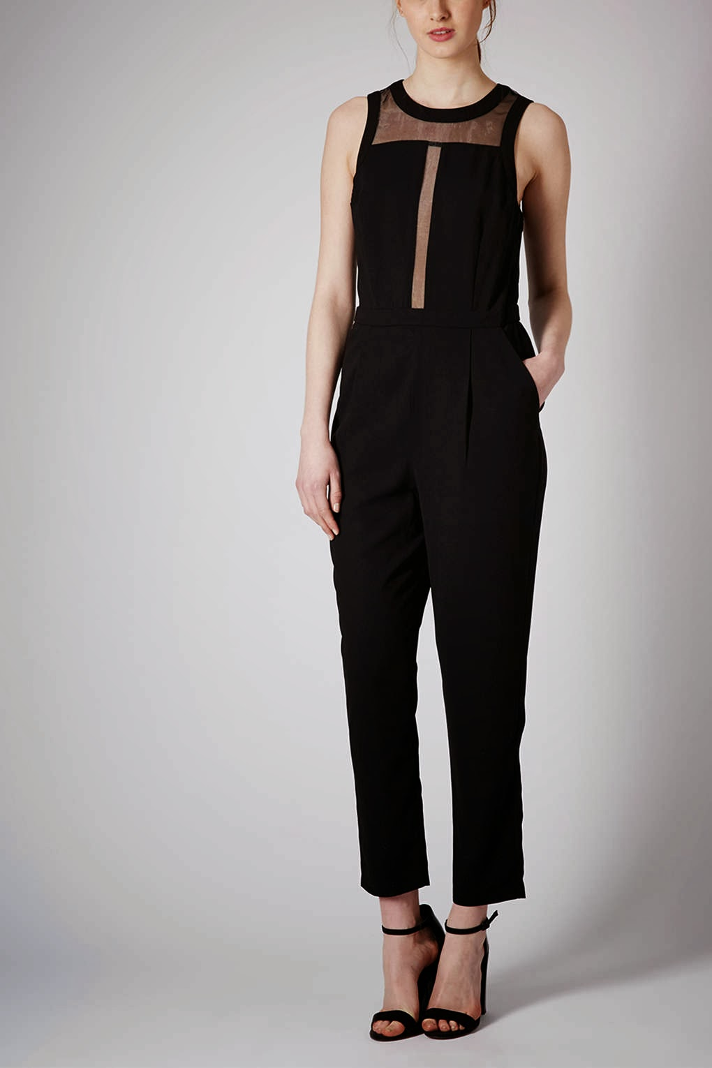 topshop black jumpsuit